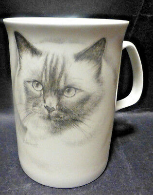 Fine Bone China Cat P & R Design Mug / Cup Made in England