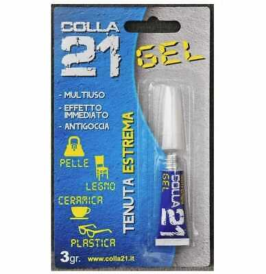 Colle 21 gel cyanoacrylate - Tube de 3 grammes