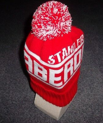 Aberdeen Fc Stand Free Bobble Hat