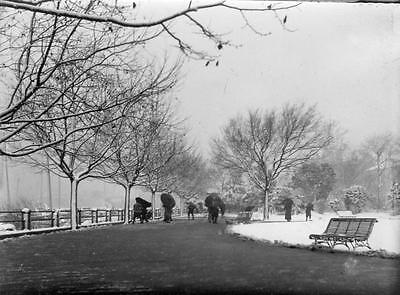 First snow for many years Shanghai China RARE Photo 1906/7