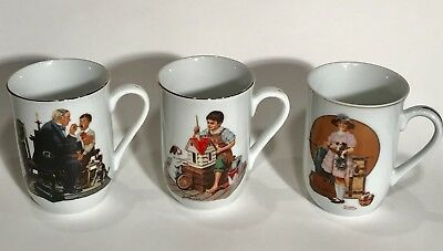 Norman Rockwell Collectable Coffee Cups