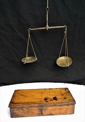 Antique Miner's Scale with box.
