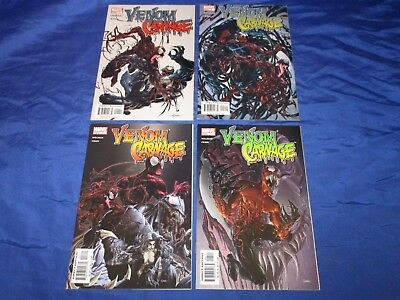Venom Vs Carnage (2004) #1-4 1st Prints Complete Set Milligan Crain VF/NM to NM