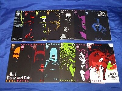 Batman Dark Victory (1999) #0-13 All First Prints Complete Set Loeb Sale NM-/NM