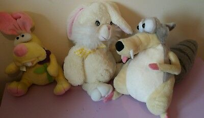 soft toy BUNNY and ICE AGE bundle