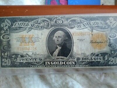 1922  Gold Note Large or Blanket Note. Rare.