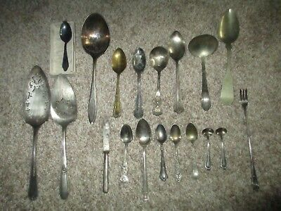 ANTIQUE STERLING SILVER/SILVER PLATE Etc ASSORTMENT