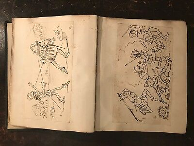 Rare Album of Cartoon sketches writings - Queen Victoria Interest Isle of Wight