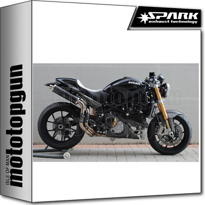 Spark 2 Exhausts Racing Round Carbon Ducati Monster S2R 1000 2006 06 2007 07