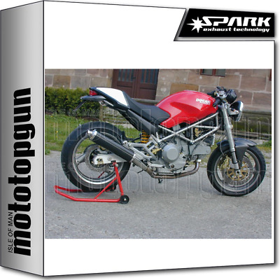 Spark Exhaust Low Homologate Round Carbon Ducati Monster 800