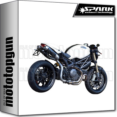 Spark 2 Exhausts Round Homologate Carbon Ducati Monster 1100 Evo 2013 13