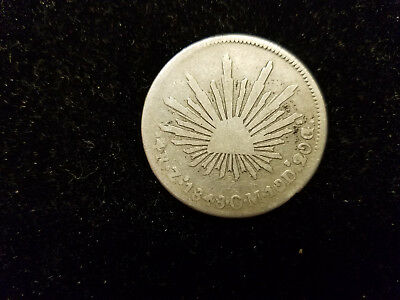 1848 Mexico 4 Reales Silver Coin - Nice Foreign Coin For Your Collection!