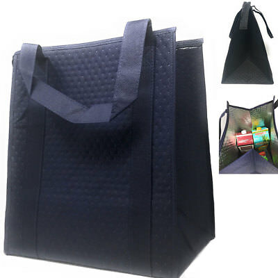 Large Big Thermo Insulated Grocery Picnic Reusable Zippered Shopping Totes Bags