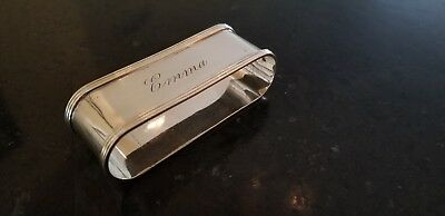 Antique Towle Sterling Silver Large 2 7/8 Inch Wide Oval Napkin Ring 25.8 Grams