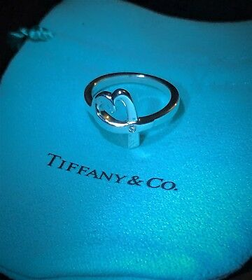 f5c748cfe6541 $400 TIFFANY & Co. Sterling Silver 925 Paloma Picasso Diamond Loving Heart  Ring