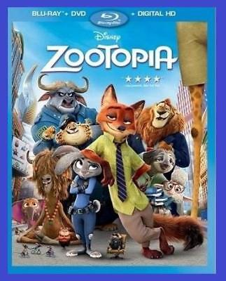 Disney Zootopia Family Movie Blu-Ray +Dvd + Digital Hd Sealed Brand New For Kids