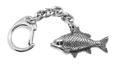 Carp Fish Pewter Keyring (Comes in a Gift pouch, Made in The UK)