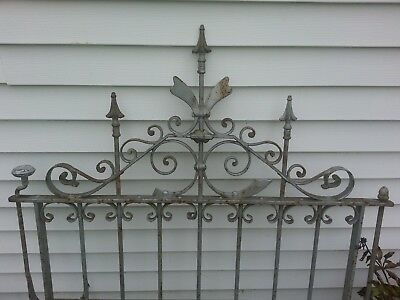 ANTIQUE WROUGHT IRON FENCING  approximately 72 ft. Gate, and 2 posts.