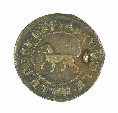 1669 Oundle 17th Century British Halfpenny Token
