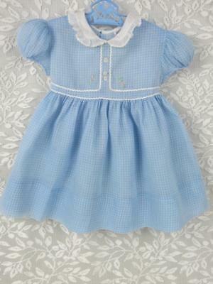 True Vintage Mid Century Baby, Child, Doll Dress - 1940's - Sweet
