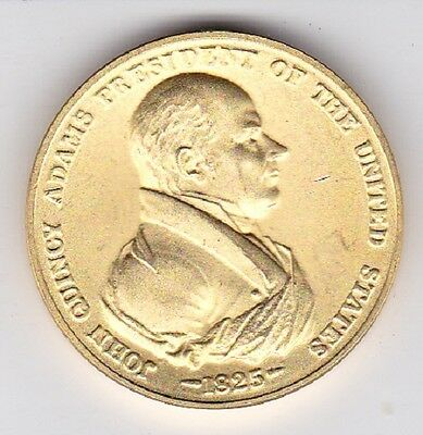 John Quincy Adams Coin ~ Presidential Bronze Medal 1825 Peace And Friendship