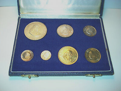 1964 South Africa Silver 7 Coin Proof Set in Original Mint Case, Return accepted