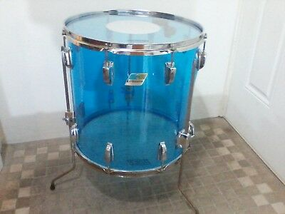 "Vintage 70's Ludwig Blue Vistalite 16"" Floor Tom Drum"