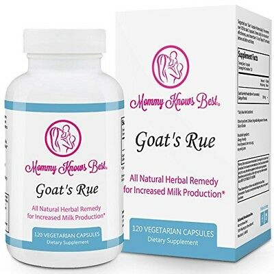 Goat's Rue Lactation Aid Support Supplement for Breastfeeding Mothers - 120 caps