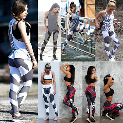 Sport Womens Compression Fitness Leggings Running Yoga Gym Pants Workout Wear ZW
