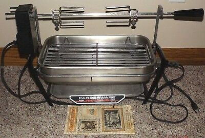 Farberware Open Hearth Stainless Steel Broiler Rotisserie Grill 450A With Motor