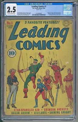 Leading Comics 1 CGC 2.5 2ND Green Arrow First Green Arrow Cover