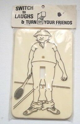 Vintage Flash It Corp. Tennis Light Switch Cover Plate - NOS 1980