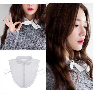 Womens Necklace Peter Pan Detachable Lapel Shirt Fake False Collar ,Knot