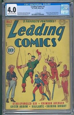 Leading Comics 1 CGC 4.0 2ND Green Arrow First Green Arrow Cover