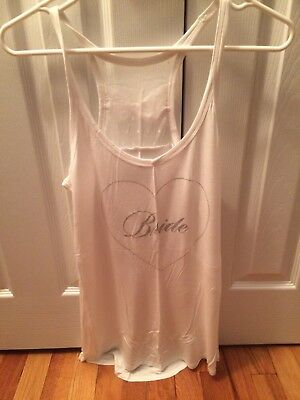 Victoria's Secret Bride tank, white, bow detail on back, size Large