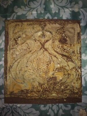 One Antique Victorian style ceiling tin. 11 1/2in x 11in