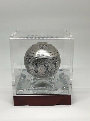 2017 One Kilo KG China Silver Ball Sphere 35th Anniversary Panda Gold Coin