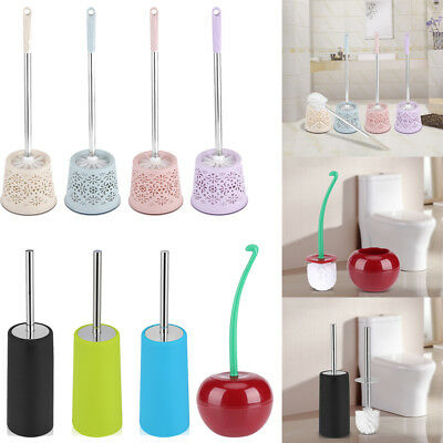 Universal Toilet Brush Head & Holder Replacement Bathroom Brush Cleaning Tool GL