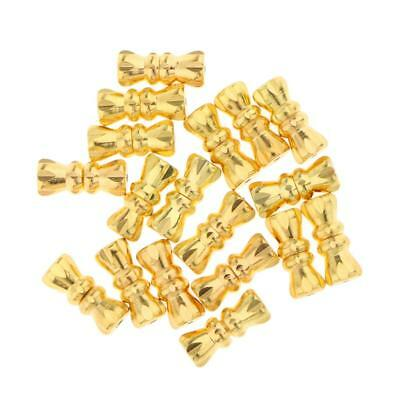 20pcs Gold Tone Barrel Screw Clasps Jewelry Making Findings 12x4mm 1mm Hole