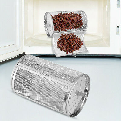 Stainless Steel Peanuts Coffee Beans BBQ Grill Basket Oven Roast Baking Cage GL