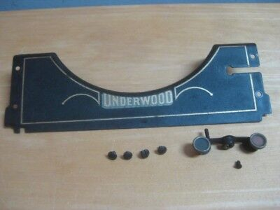 Antique Underwood No. 3 Typewriter Front Face Plate For Parts Or Repair