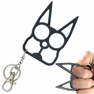Cat Key Chain Personal Self Defense Keychain Keyring Emergency Metal Tool Gift