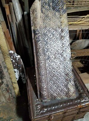 """(71 Pieces) """" Beautiful Raised Cross Tin Ceiling Borders """" Architectural 1890's"""