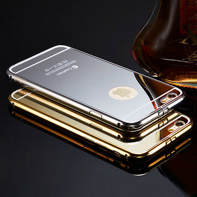 Luxury Aluminum Ultra-thin Mirror Metal Case Cover for Apple iPhone & Samsung