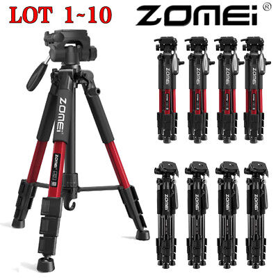 ZOMEI Q111 Professional Aluminum Tripod&Pan Head Portable For DSLR Camera LOT TO