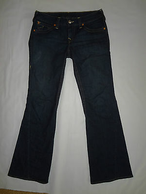 True Religion Womens Jeans FLARE Dark Wash Denim Size 32 LADIES Very NICE @@@