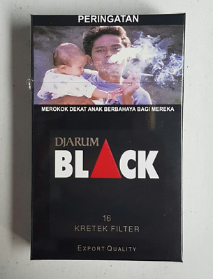 10 Packs Djarum Black Filter Kretek Cloves (160 Sticks) FRESH SEALED