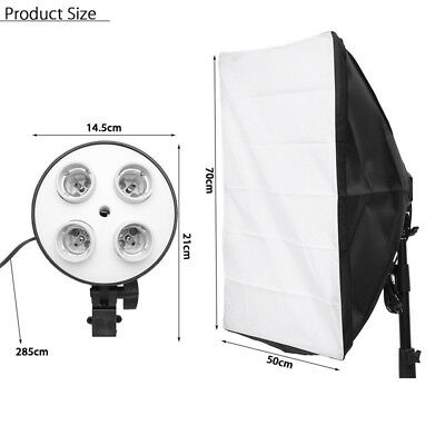 Photography Kit Photo Light Softbox+4 in 1 E27 Socket Lamp Head Stand Holder Kit