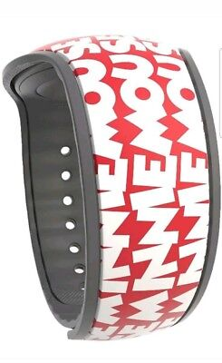 NEW Disney Parks Timeless Minnie Mouse Font Red Magic Band 2