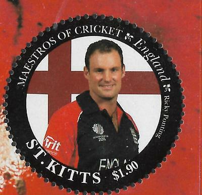 ST KITTS 2011 CRICKET WORLD CUP CAPTAINS Sheet with ERROR Designs MNH